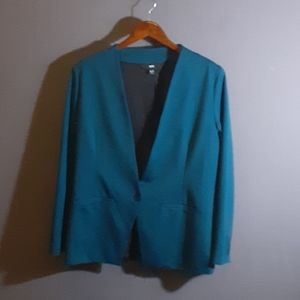 XL Mossimo turquoise one button jacket